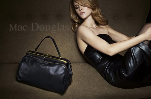 shoky van der horst beauty Mac Douglas Handbag Sacs cuir advertising