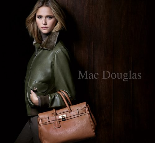 advertising shoky van der horst beauty Mac Douglas Handbag Sacs