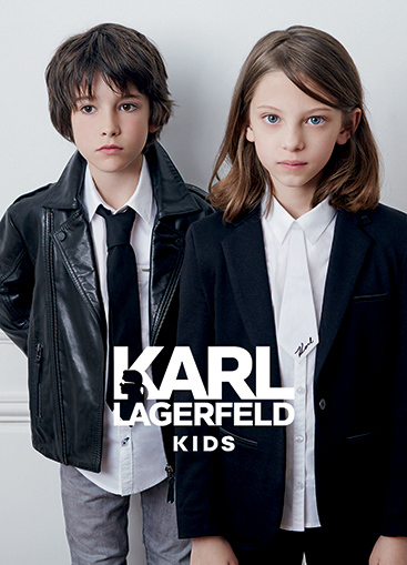 advertising shoky van der horst Karl Lagerfeld KL KIDS cuir fashion