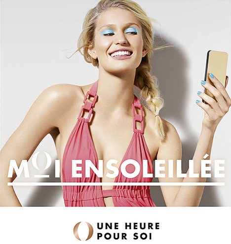 advertising shoky van der horst beauty make-up pastel pink Une heure pour soi UHPS