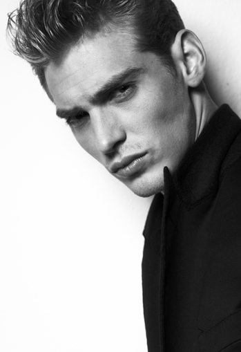 top model shoky van der horst beauty GQ black & white
