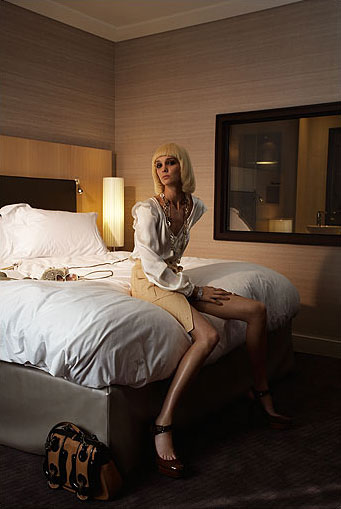 shoky van der horst Paris legs fashion Beauty Hotel Enjoy lingerie Fendi